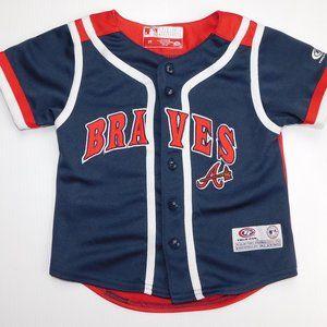True Fan Atlanta Braves 3T Button Front Jersey
